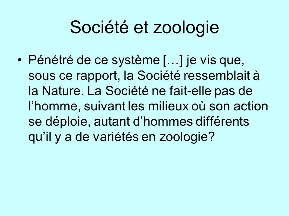 Société et zoologie