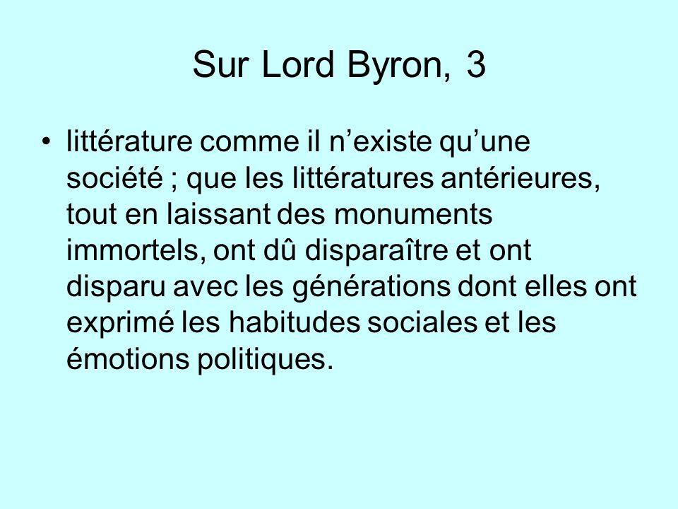 Sur Lord Byron, 3