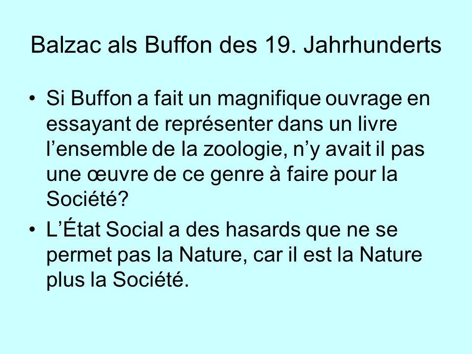 Balzac als Buffon des 19. Jahrhunderts