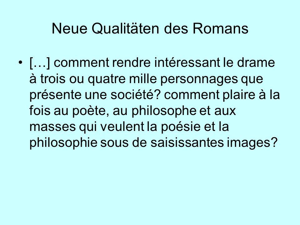 Neue Qualitäten des Romans