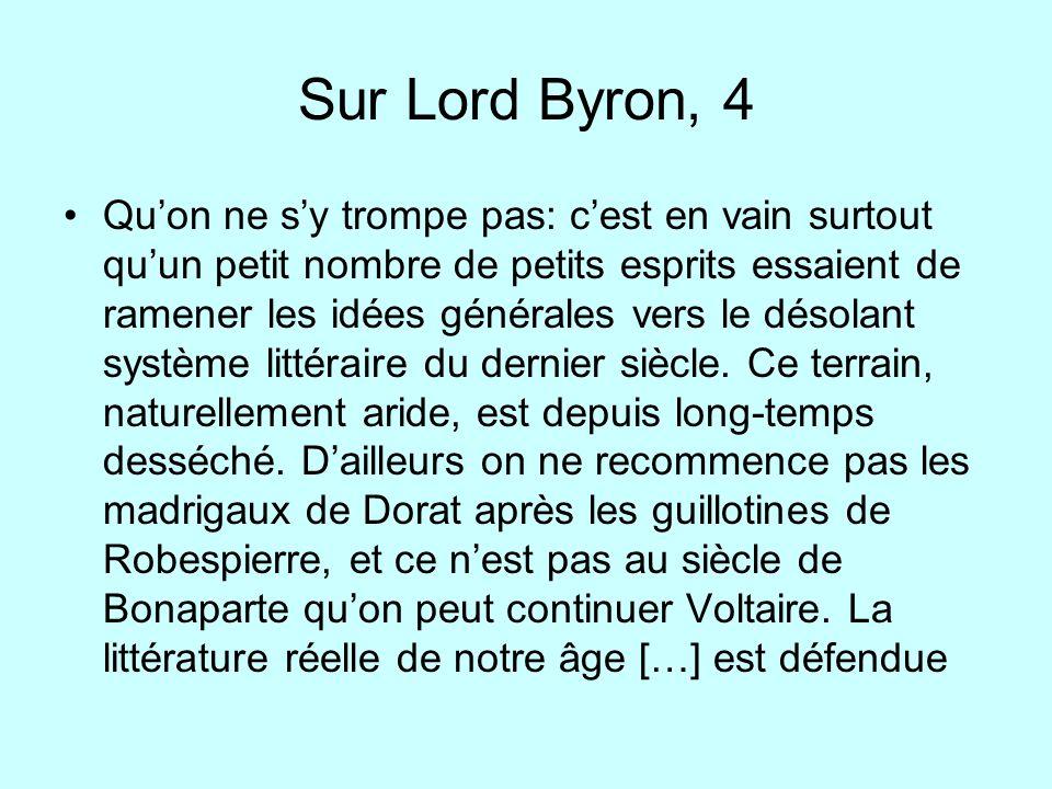 Sur Lord Byron, 4