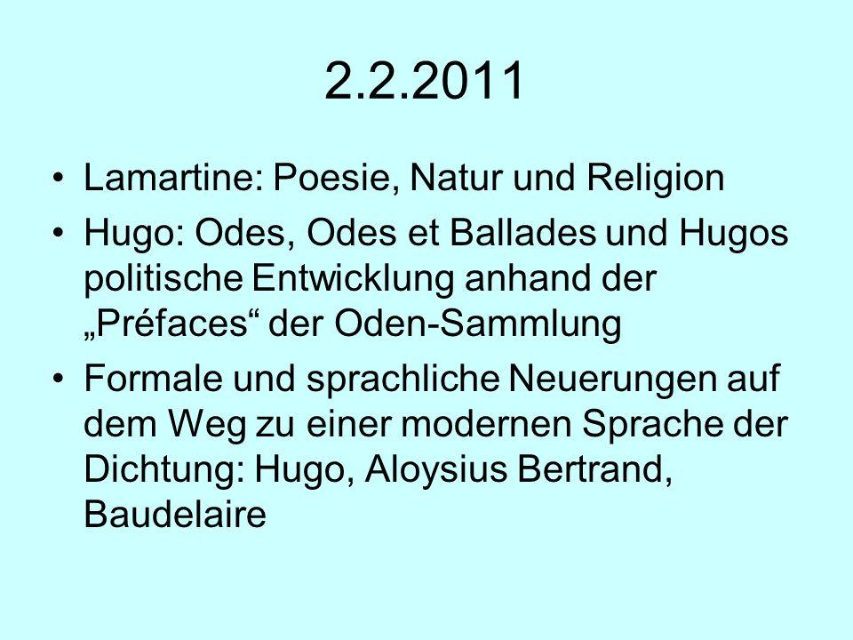 2.2.2011 Lamartine: Poesie, Natur und Religion