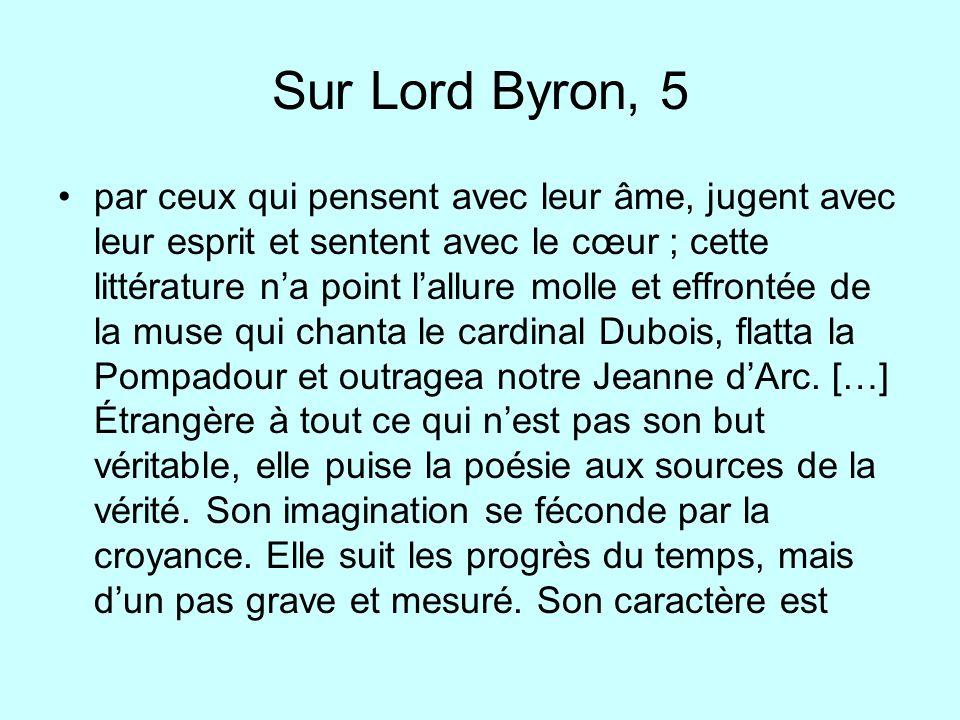 Sur Lord Byron, 5