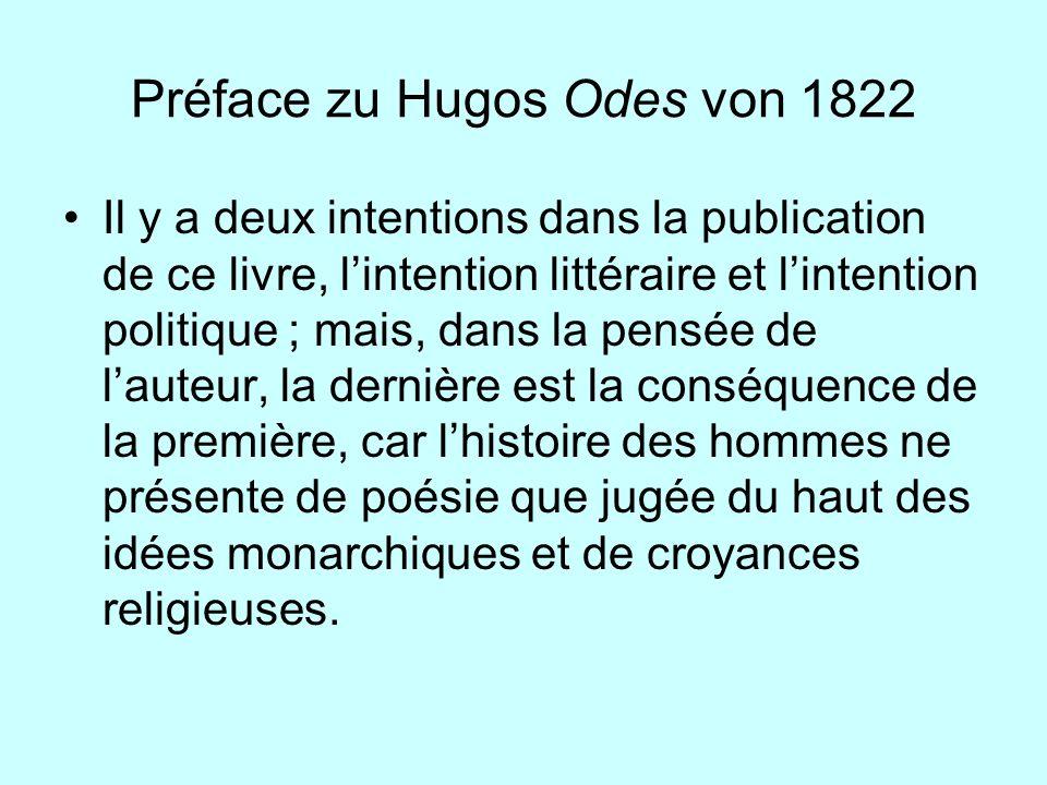 Préface zu Hugos Odes von 1822