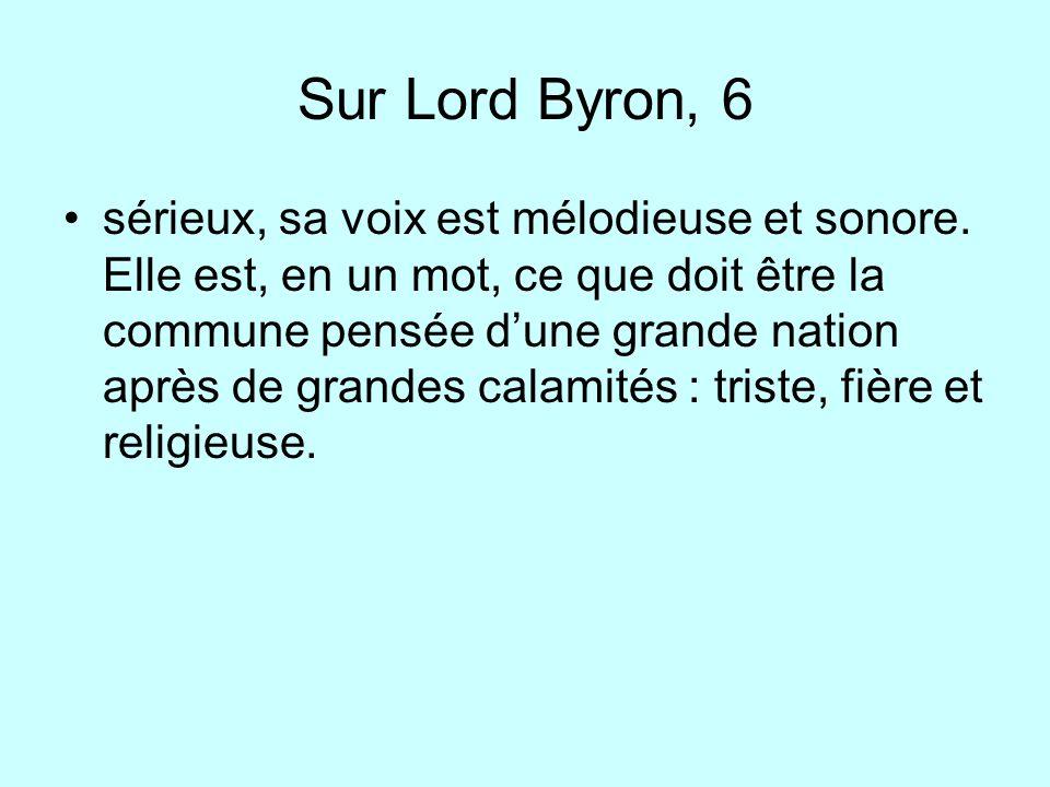 Sur Lord Byron, 6