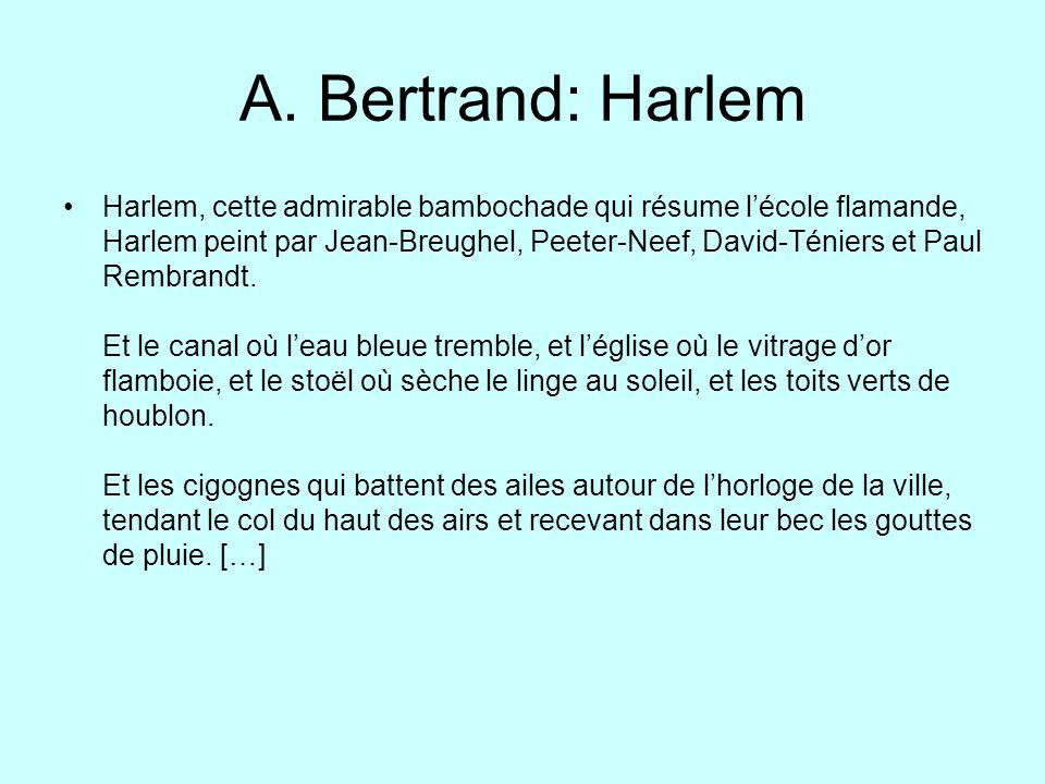 A. Bertrand: Harlem