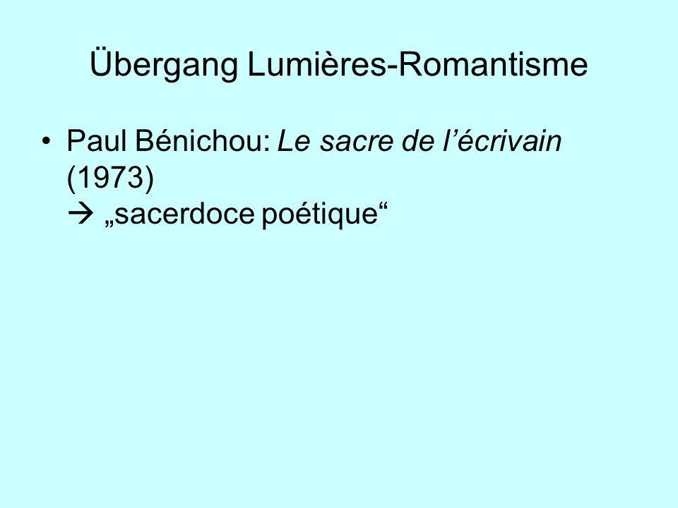 Übergang Lumières-Romantisme