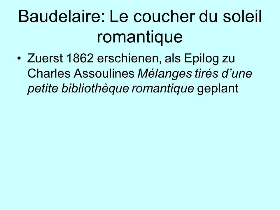 Baudelaire: Le coucher du soleil romantique
