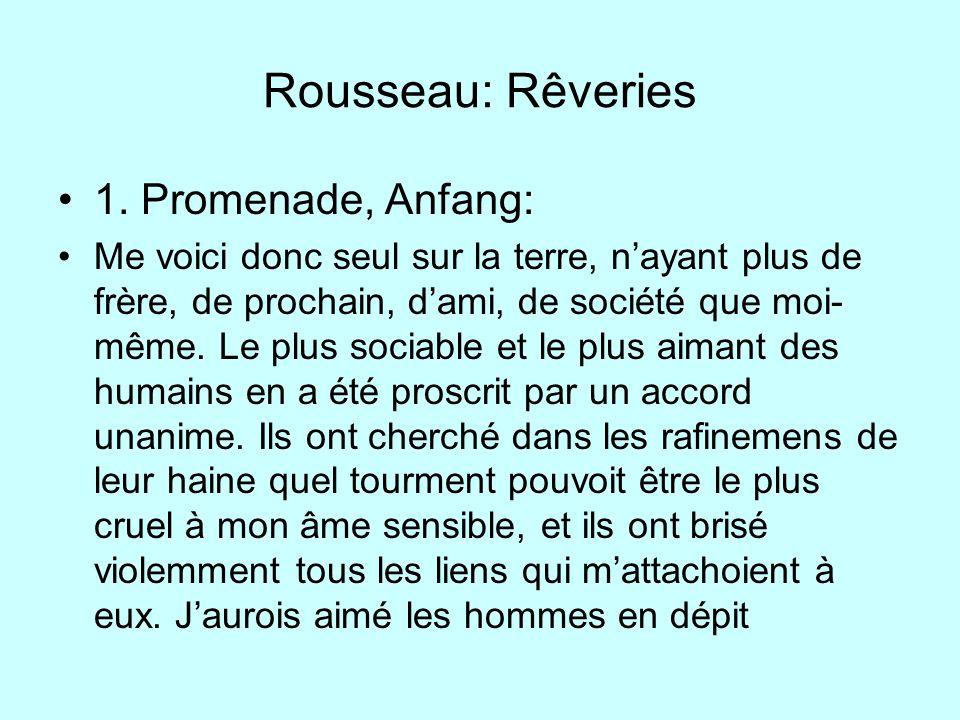 Rousseau: Rêveries 1. Promenade, Anfang: