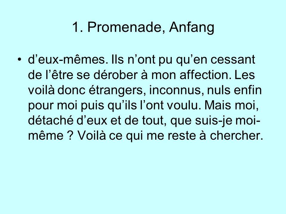 1. Promenade, Anfang