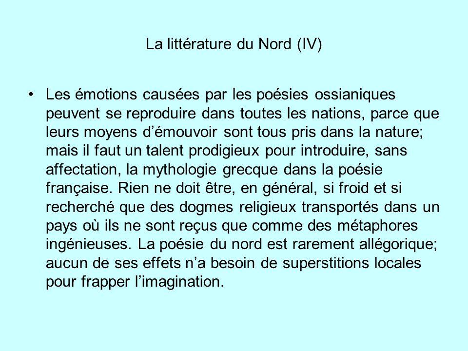 La littérature du Nord (IV)