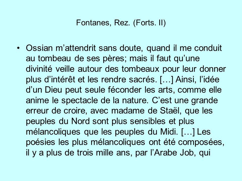 Fontanes, Rez. (Forts. II)