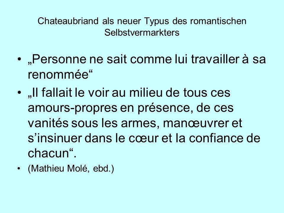 Chateaubriand als neuer Typus des romantischen Selbstvermarkters