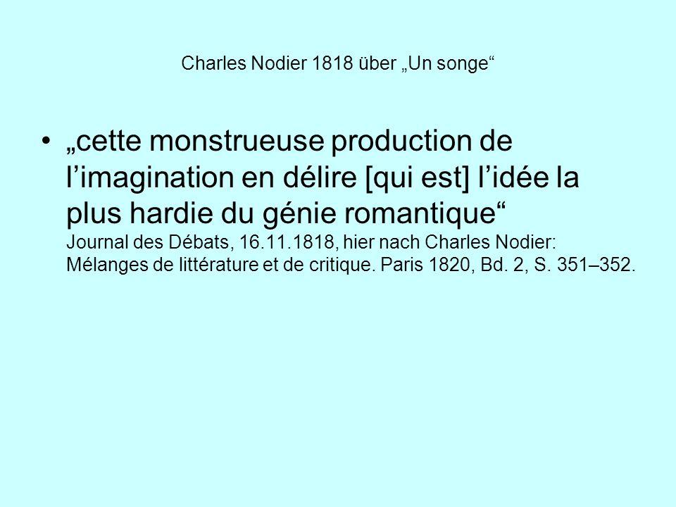 """Charles Nodier 1818 über """"Un songe"""