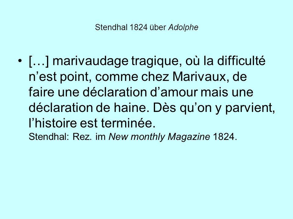 Stendhal 1824 über Adolphe
