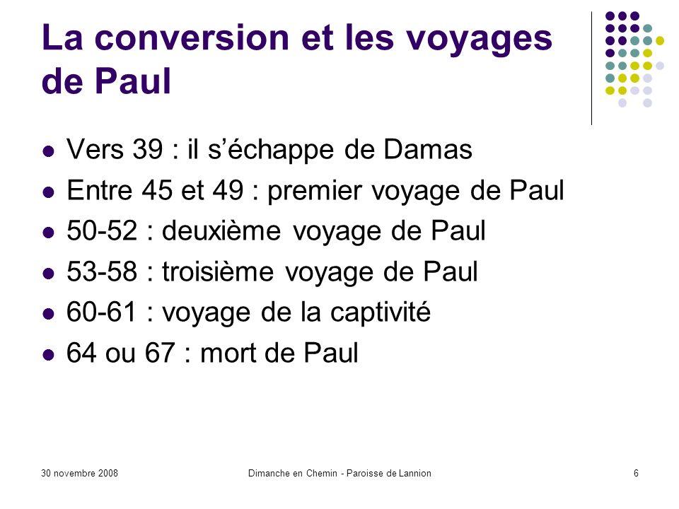 La conversion et les voyages de Paul