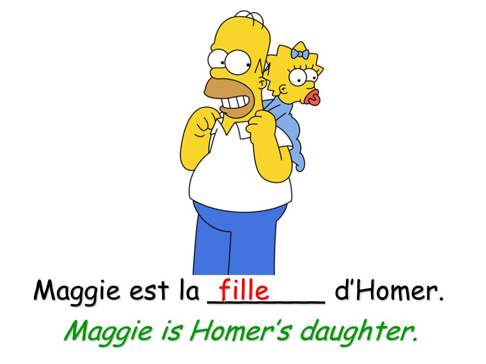 Maggie est la _______ d'Homer. fille