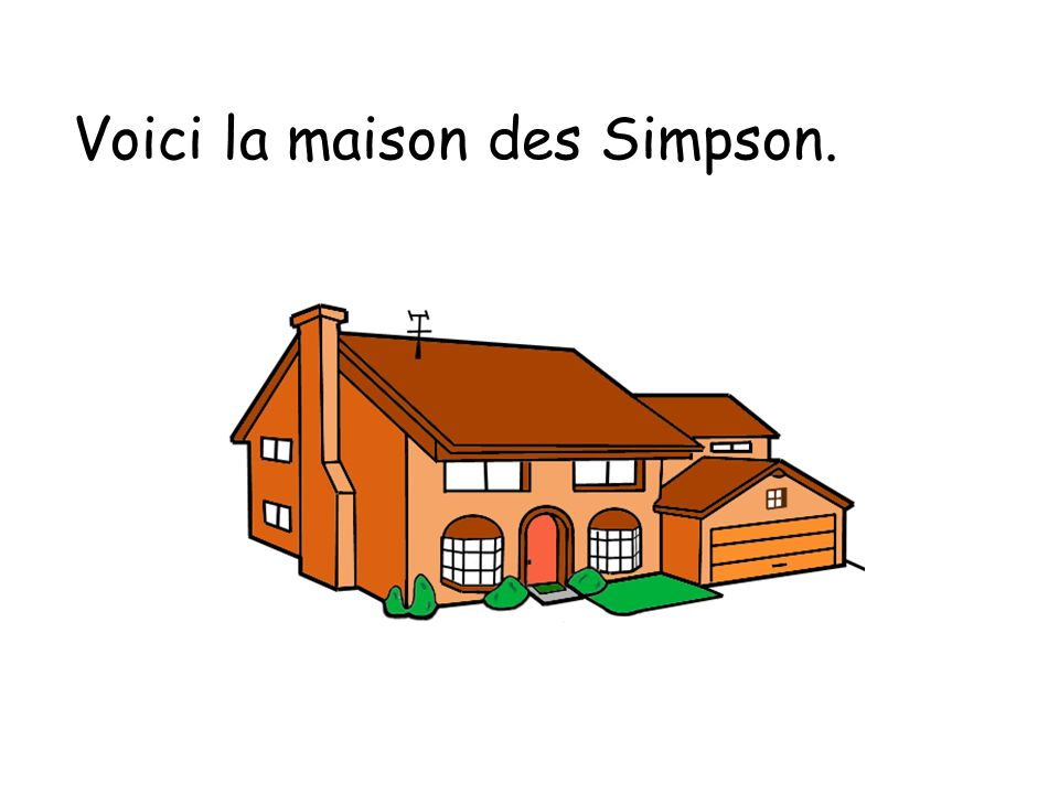 Voici la maison des Simpson.