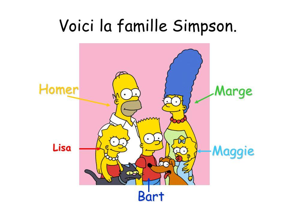 Voici la famille Simpson.
