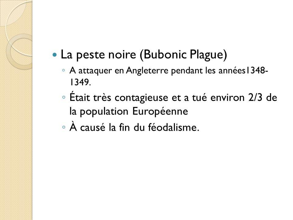 La peste noire (Bubonic Plague)