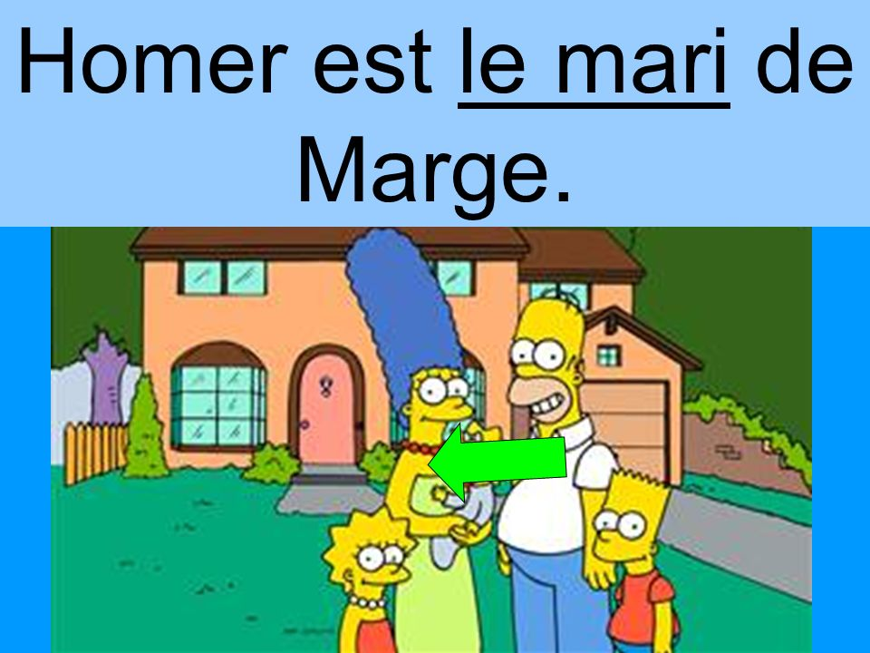 Homer est le mari de Marge.