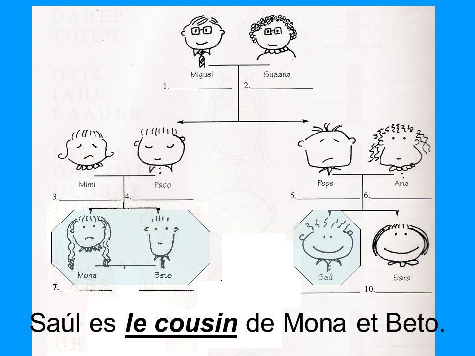 Saúl es le cousin de Mona et Beto.