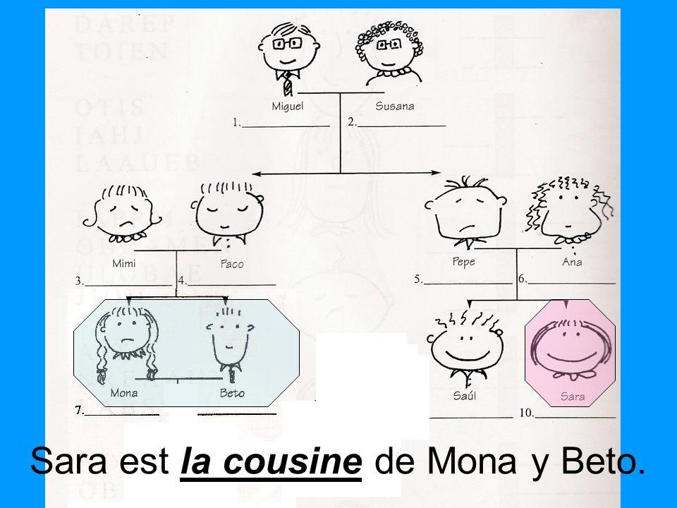 Sara est la cousine de Mona y Beto.
