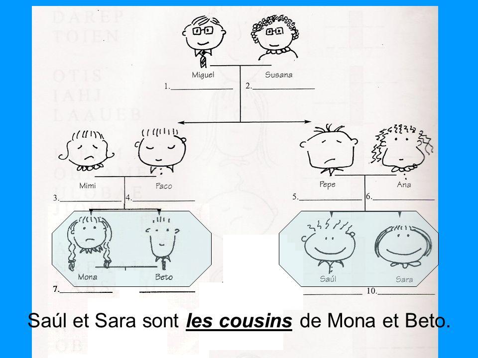 Saúl et Sara sont les cousins de Mona et Beto.