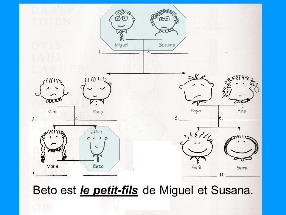 Beto est le petit-fils de Miguel et Susana.