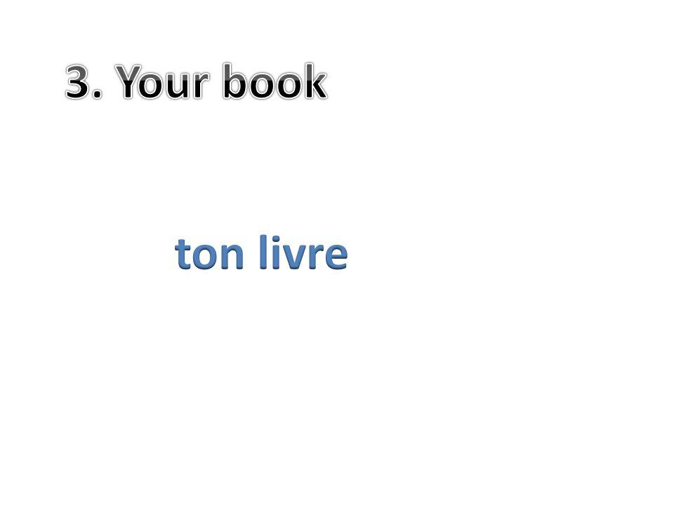 3. Your book ton livre