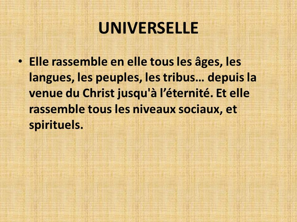 UNIVERSELLE