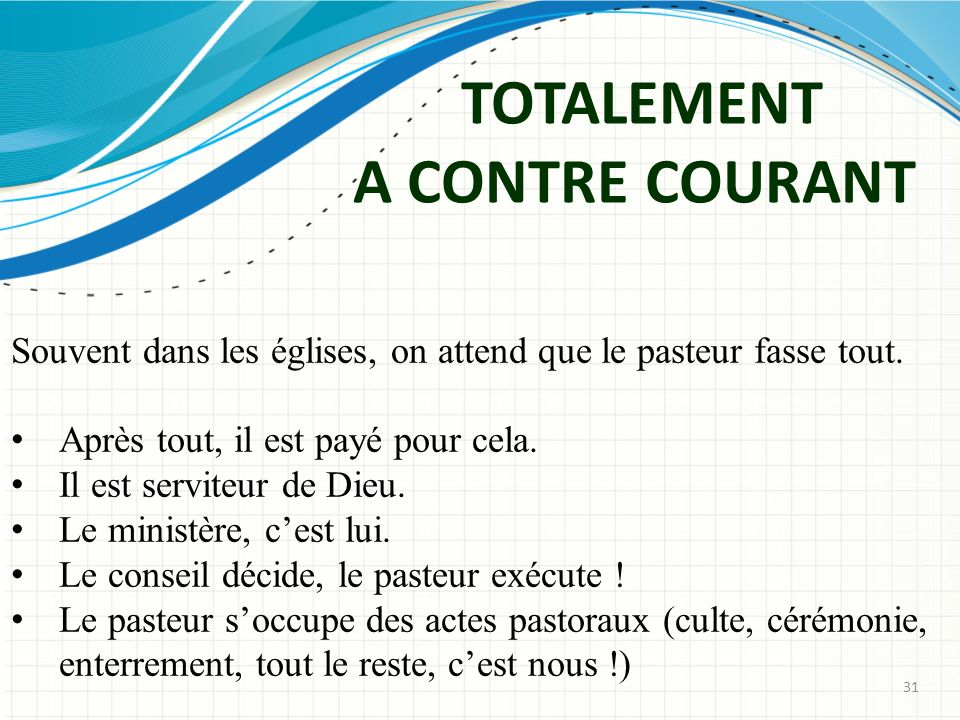 TOTALEMENT A CONTRE COURANT