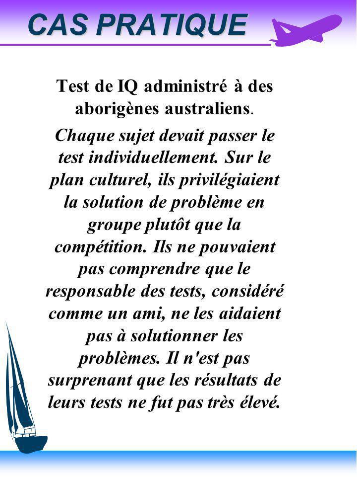 Test de IQ administré à des aborigènes australiens.