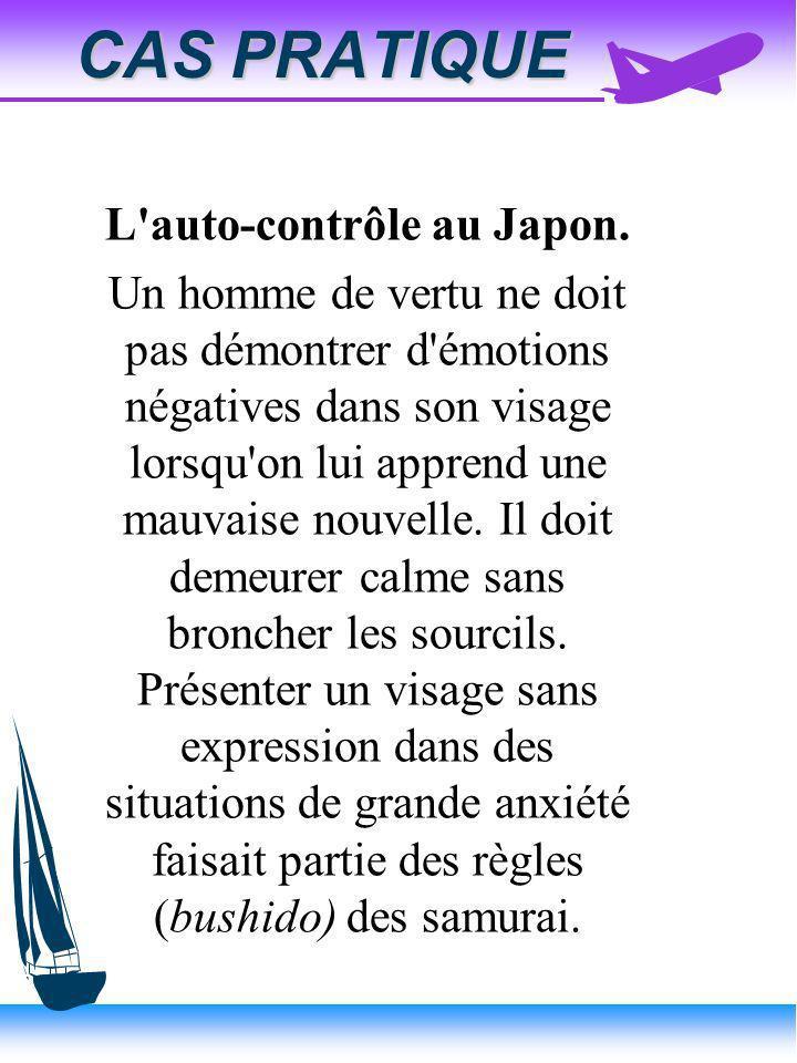 L auto-contrôle au Japon.