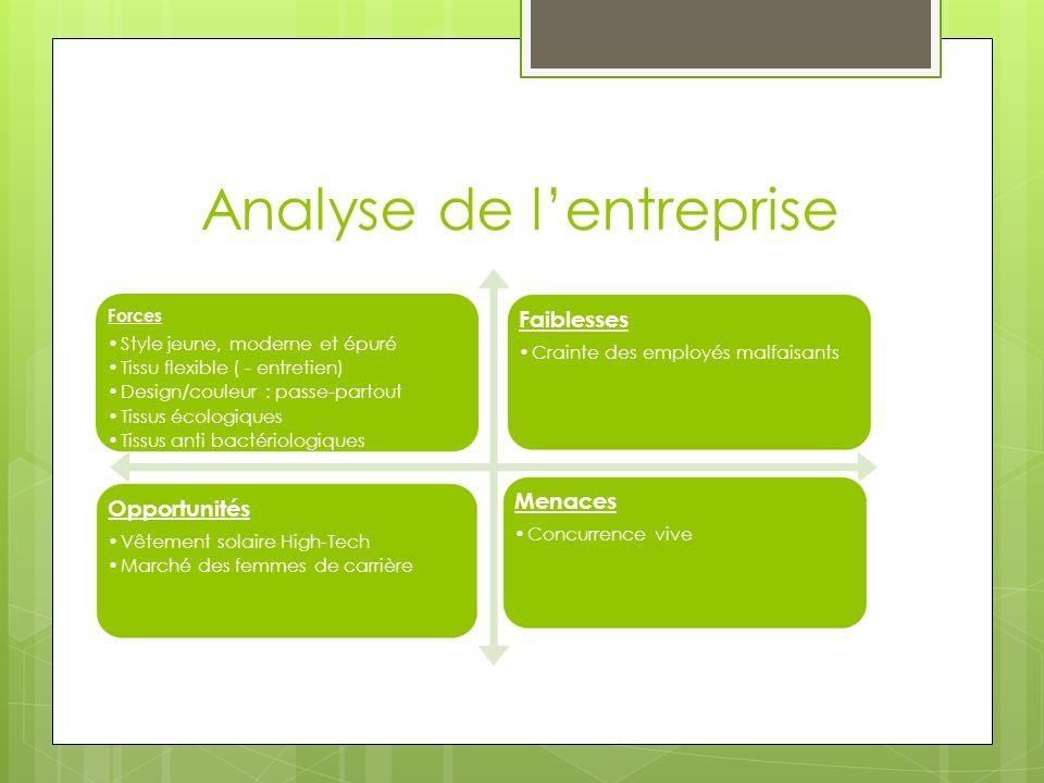 Analyse de l'entreprise