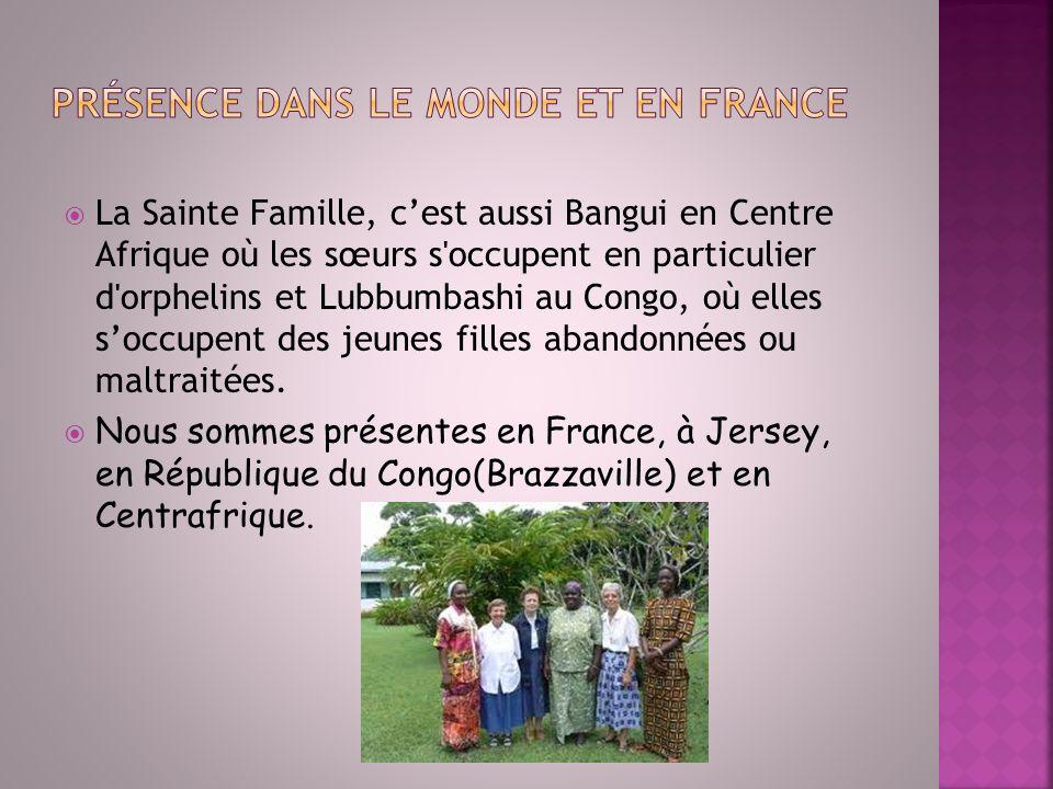 Présence dans le monde et en France