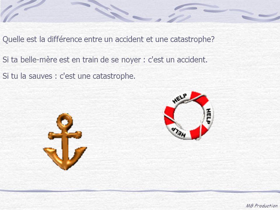 Quelle est la différence entre un accident et une catastrophe
