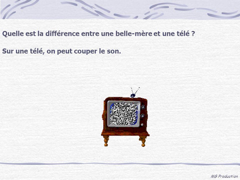 Quelle est la différence entre une belle-mère et une télé