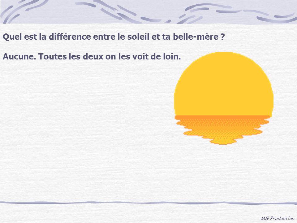 Quel est la différence entre le soleil et ta belle-mère