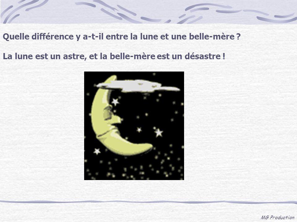 Quelle différence y a-t-il entre la lune et une belle-mère