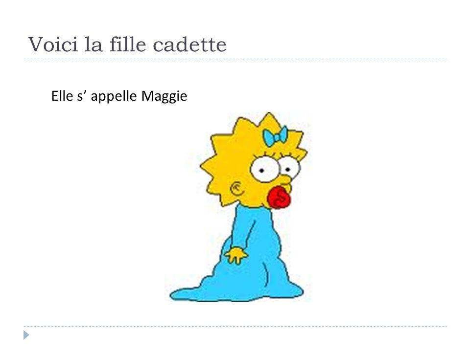 Voici la fille cadette Elle s' appelle Maggie