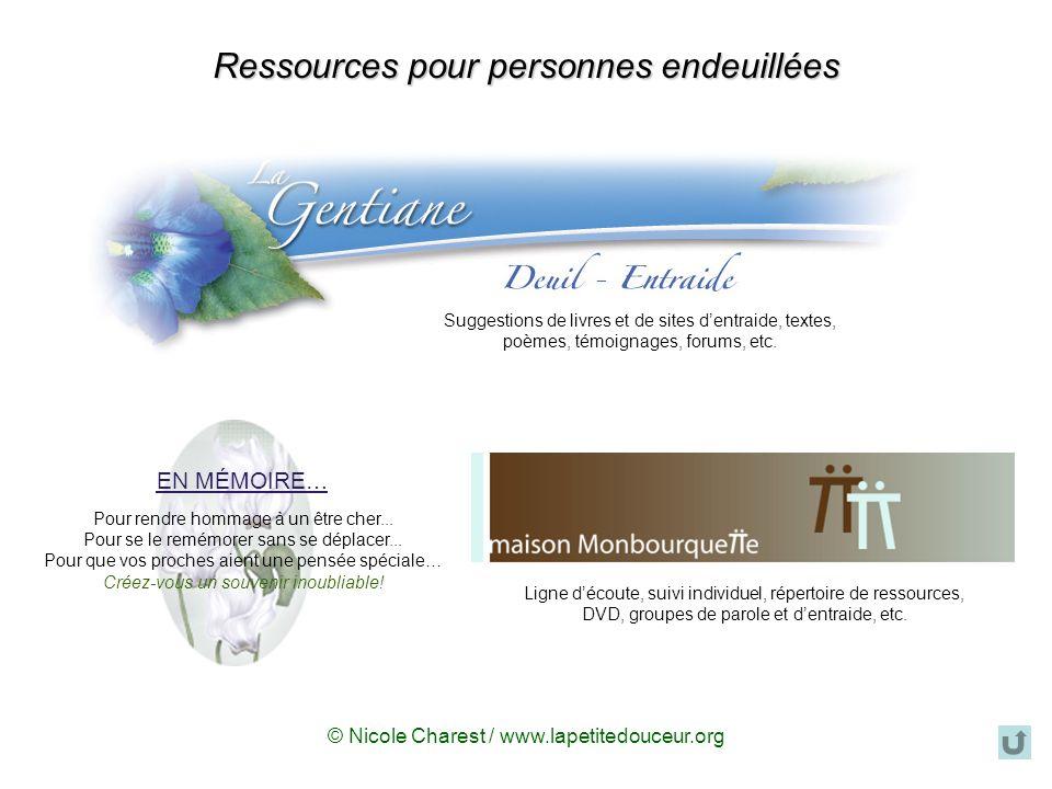 Ressources pour personnes endeuillées