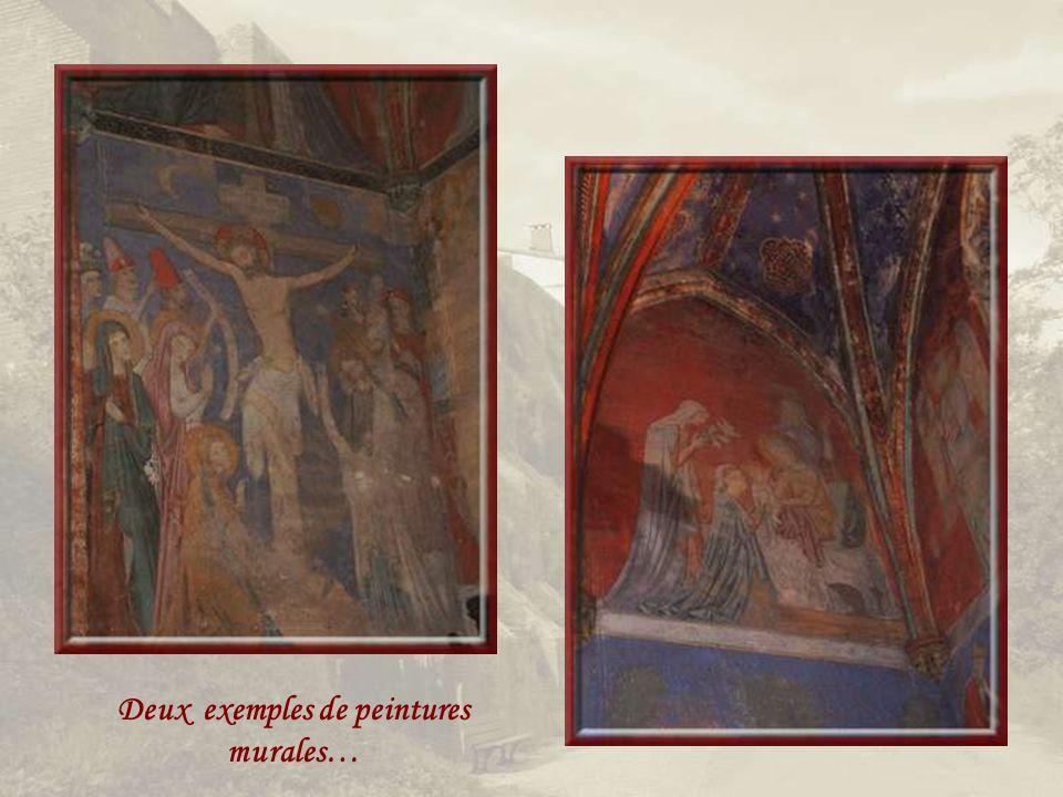 Deux exemples de peintures murales…