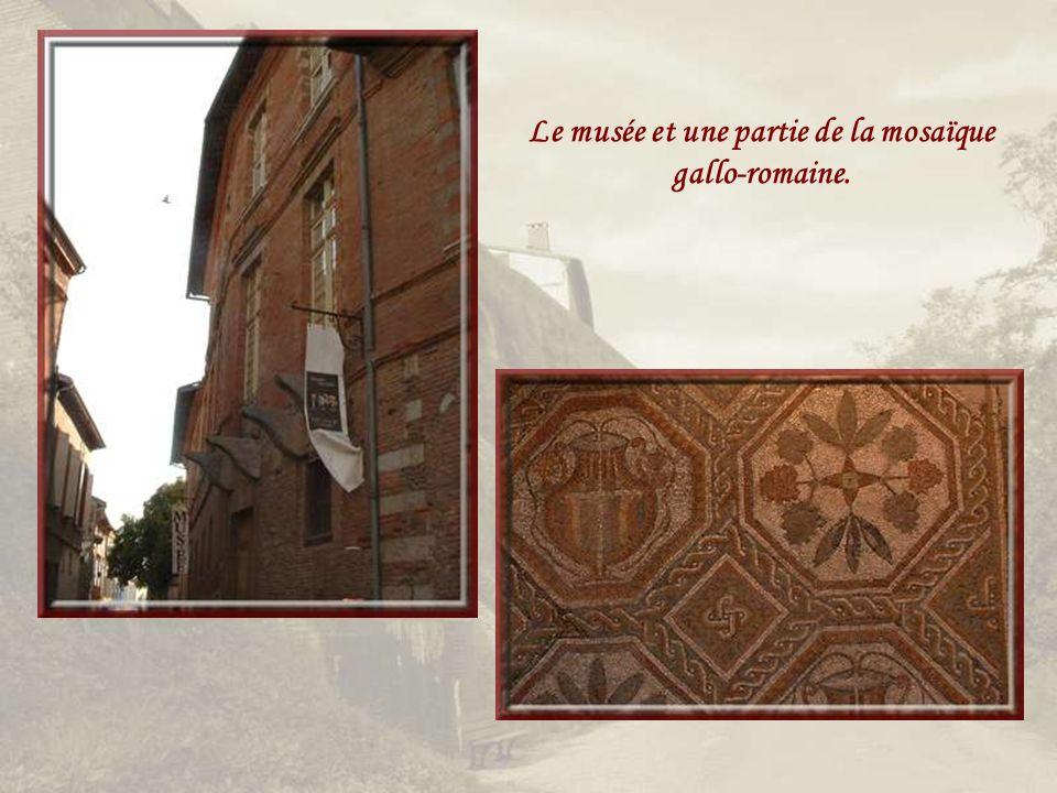 Le musée et une partie de la mosaïque gallo-romaine.