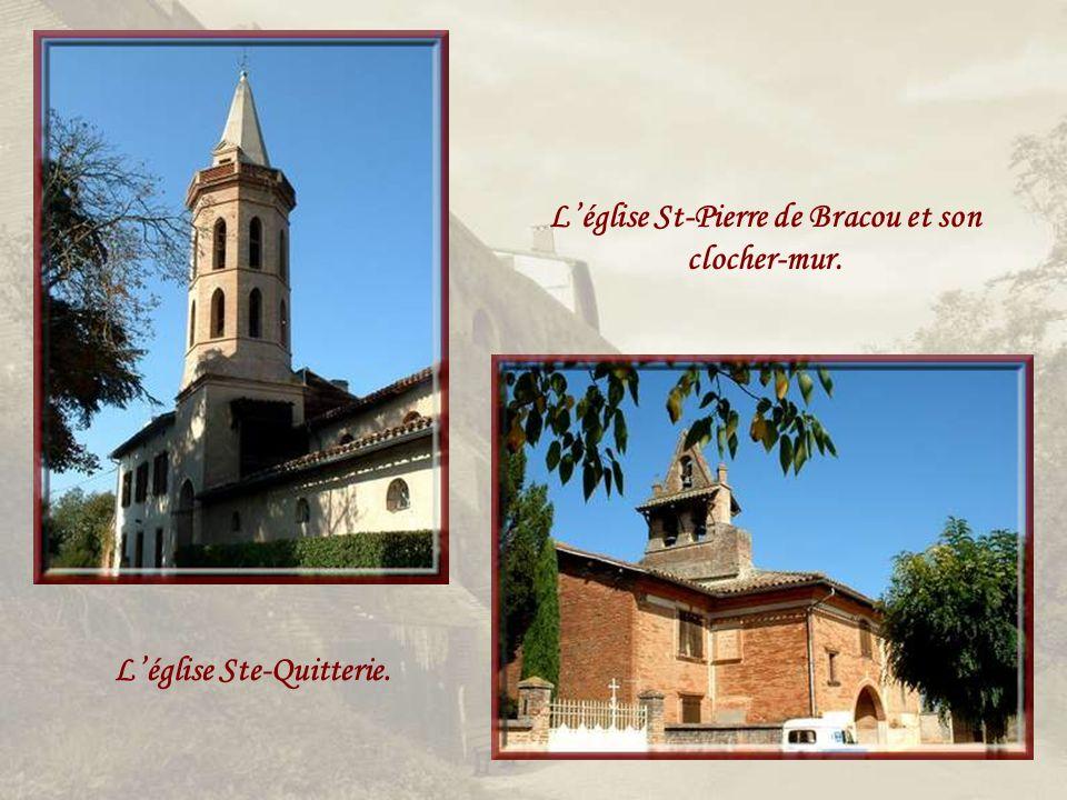 L'église St-Pierre de Bracou et son clocher-mur.