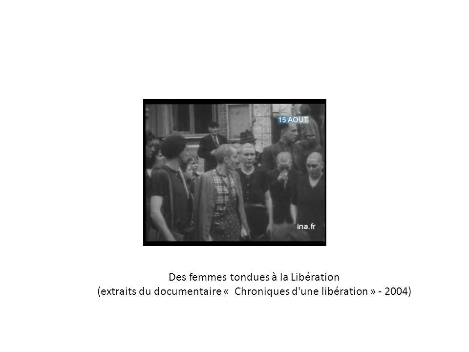 Des femmes tondues à la Libération