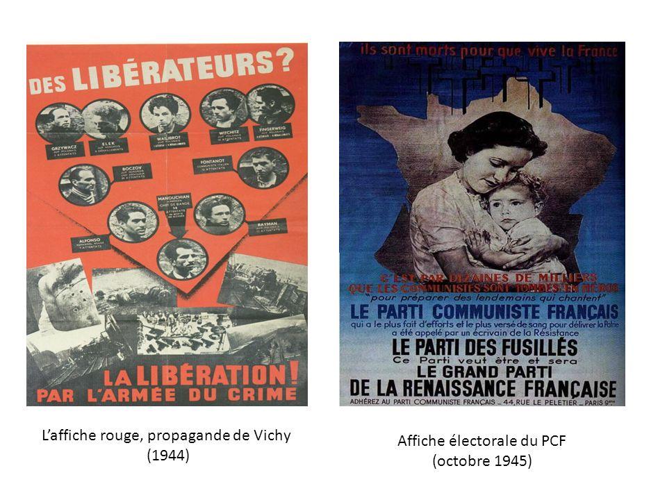 L'affiche rouge, propagande de Vichy (1944) Affiche électorale du PCF