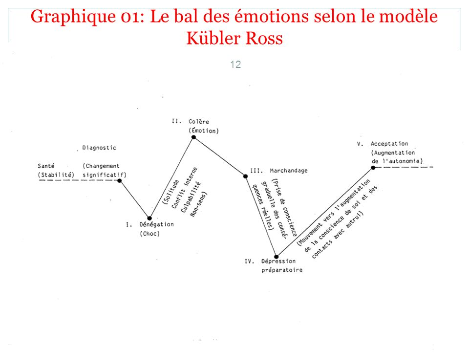 Graphique 01: Le bal des émotions selon le modèle Kübler Ross