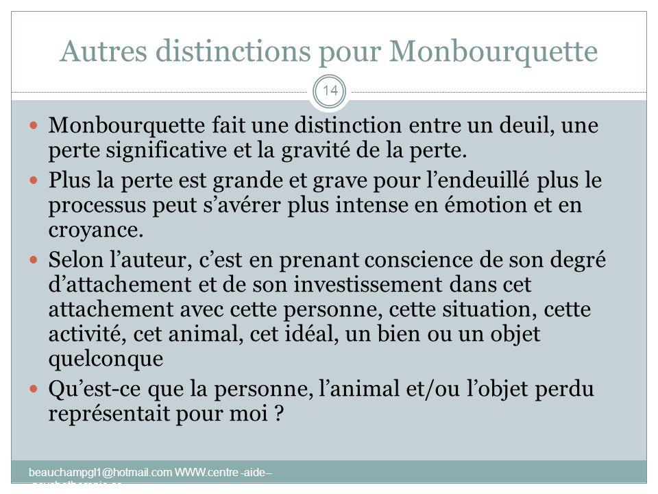Autres distinctions pour Monbourquette