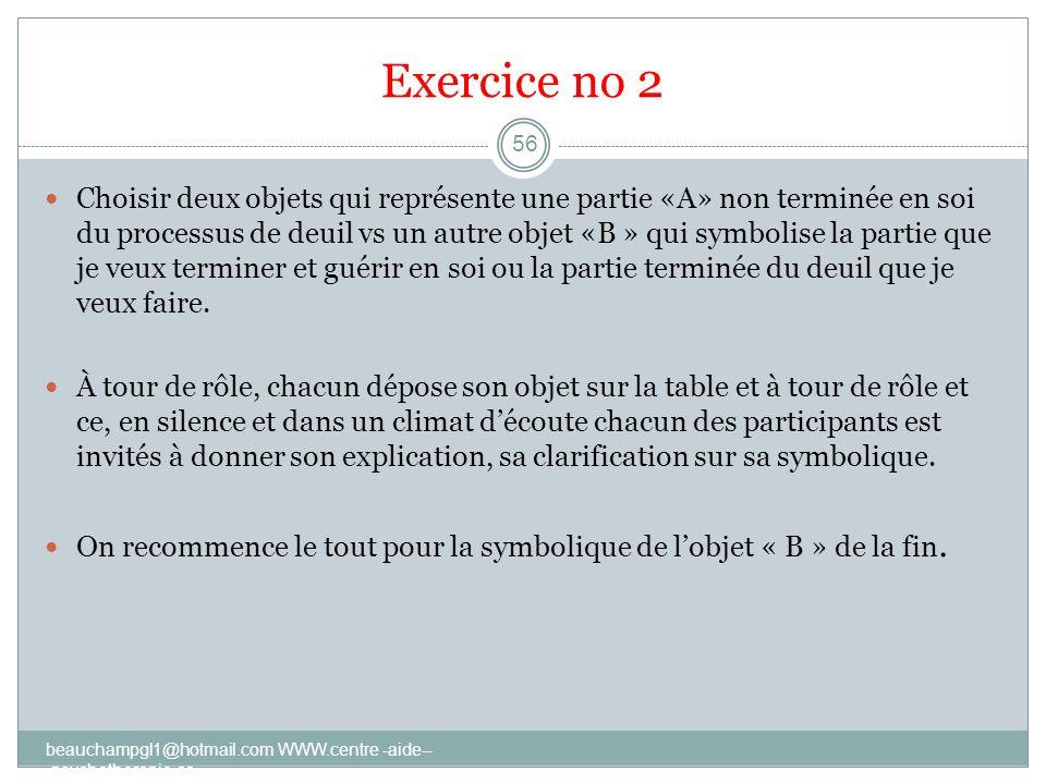 Exercice no 2
